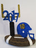 Football themed 2017 graduation centerpiece - Designs by Ginny