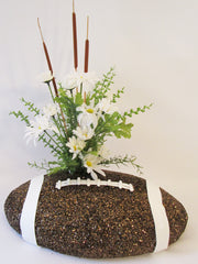 Floral football table centerpiece - Designs by Ginny