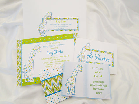 Baby Shower Invite ensemble - Designs by Ginny