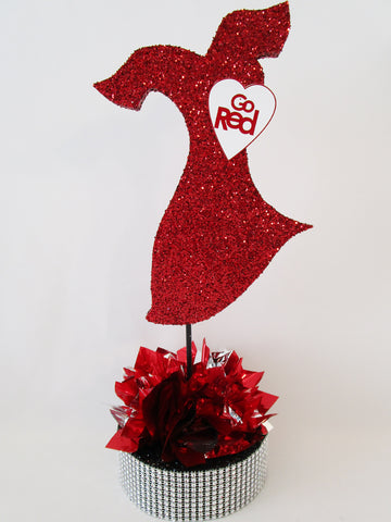 Go Red Dress Centerpeice - Designs by Ginny