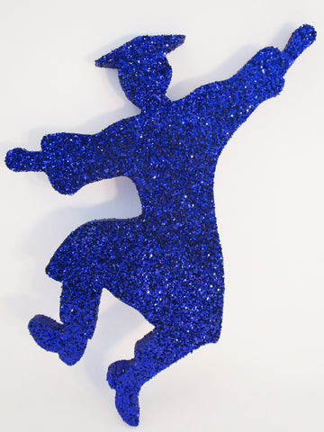 grad boy in the air cutout for graduation centerpieces
