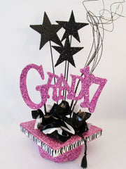 Grad17 Graduation Centerpiece -Designs by Ginny