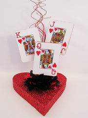 Heart themed casino centerpiece - Designs by Ginny