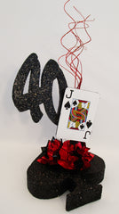 Spade themed centerpiece - Designs by Ginny