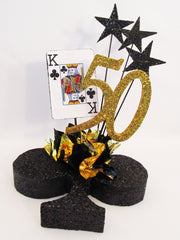 King of Clubs centerpiece - Designs by Ginny