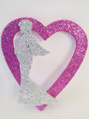 open heart with bride cutout - Designs by Ginny