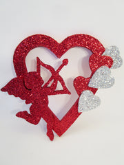 open heart-cupid-small hearts cutout - Designs by Ginny