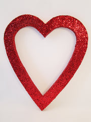 red open heart cutout
