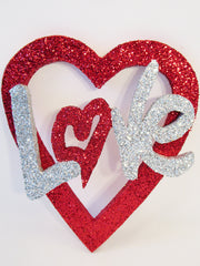 red open heart with Love cutout - Designs by Ginny