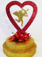 open heart with cupid centerpiece - Designs by Ginny