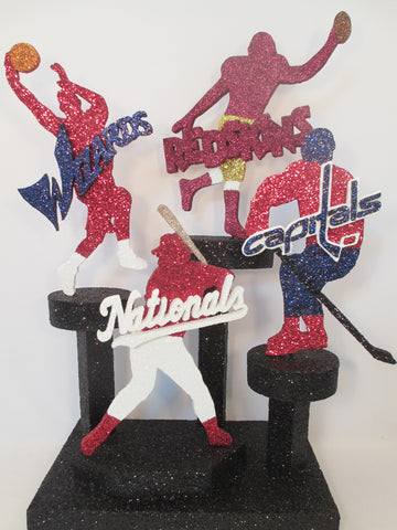 Redskins, Nationals, Wizards, & Capitals styrofoam cutouts - Designs by Ginny