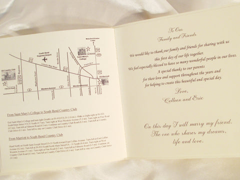 Booklet Style Wedding Program