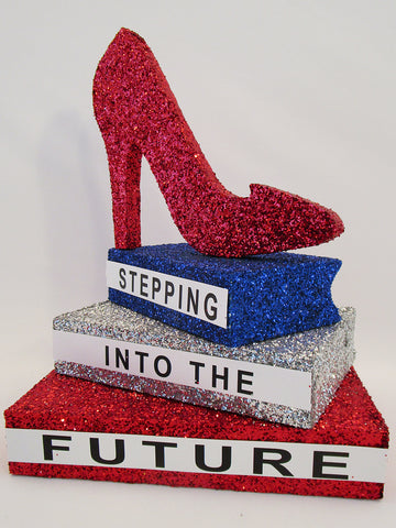 Stepping into the future graduation centerpiece - Designs by Ginny