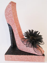 stiletto high heel shoe with flower - Designs by Ginny