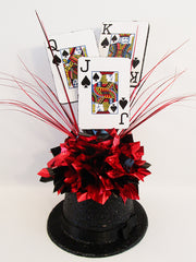 Top hat casino themed centerpiece - Designs by Ginny