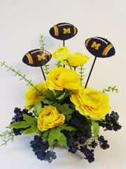 U of M floral centerpiece - Designs by Ginny