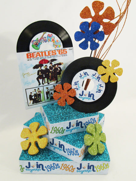 1960 S Themed Table Centerpiece Designs By Ginny