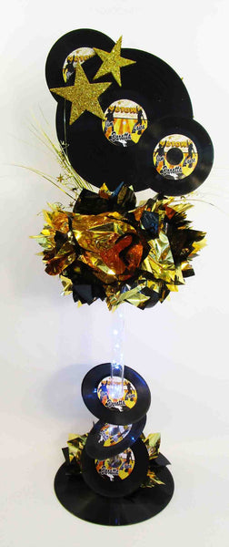 Motown tall lighted centerpiece - Designs by Ginny