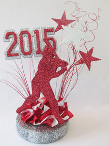 baseball player graduation centerpiece - Designs by Ginny