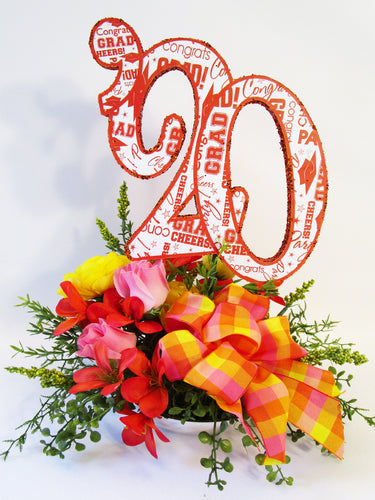 2020 Silk Floral Graduation Centerpiece - Designs by Ginny