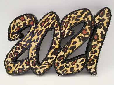 2021 Leopard Styrofoam Graduation Cutout - Designs by Ginny