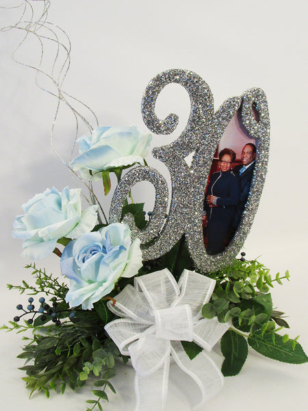 30th anniversary centerpiece -Designs by Ginny