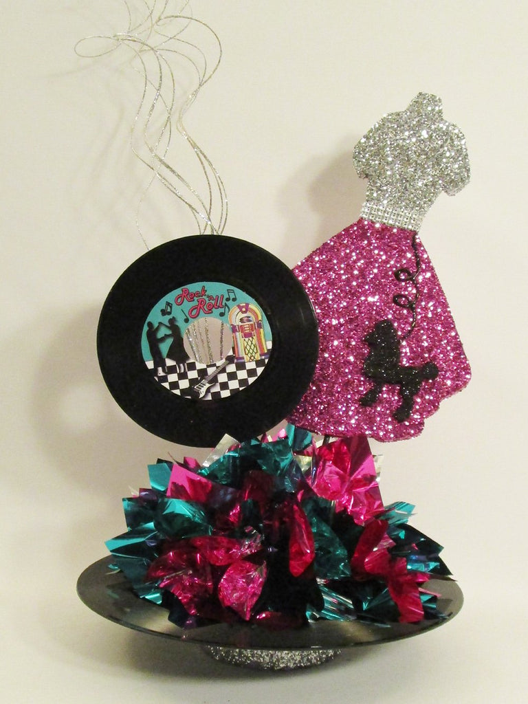 50's poodle skirt centerpiece - Designs by Ginny
