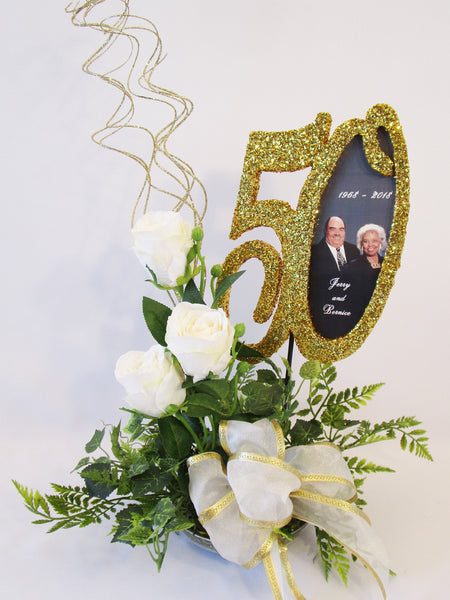 50th Anniversary Centerpiece - Designs by Ginny