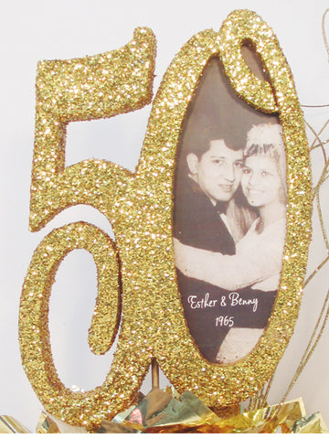 50th anniversary cutout with picture