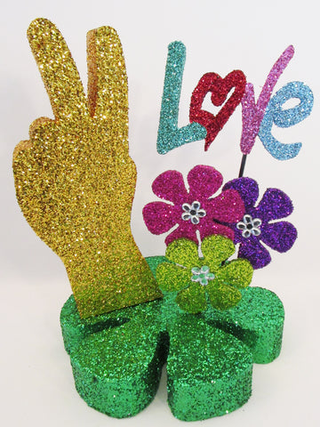Peace,Love 1960's centerpiece - Designs by Ginny