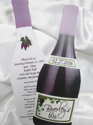 Birthday Wine Bottle Invite