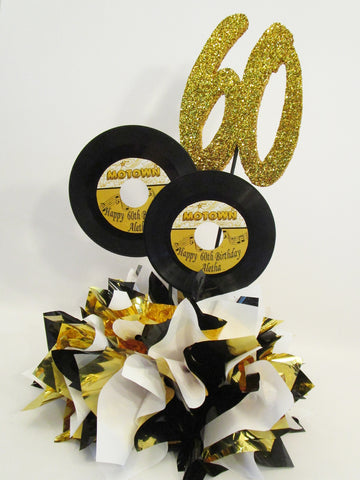 Motown Records 60th birthday centerpiece - Designs by Ginny