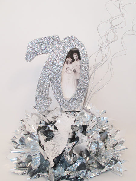 Anniversary Centerpiece (50th) with Metallic Tissue (with or with out picture)
