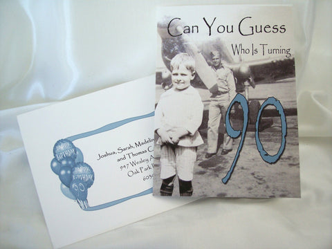 90th Birthday Invite