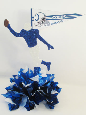 Colts Football Player & Pennant Centerpiece