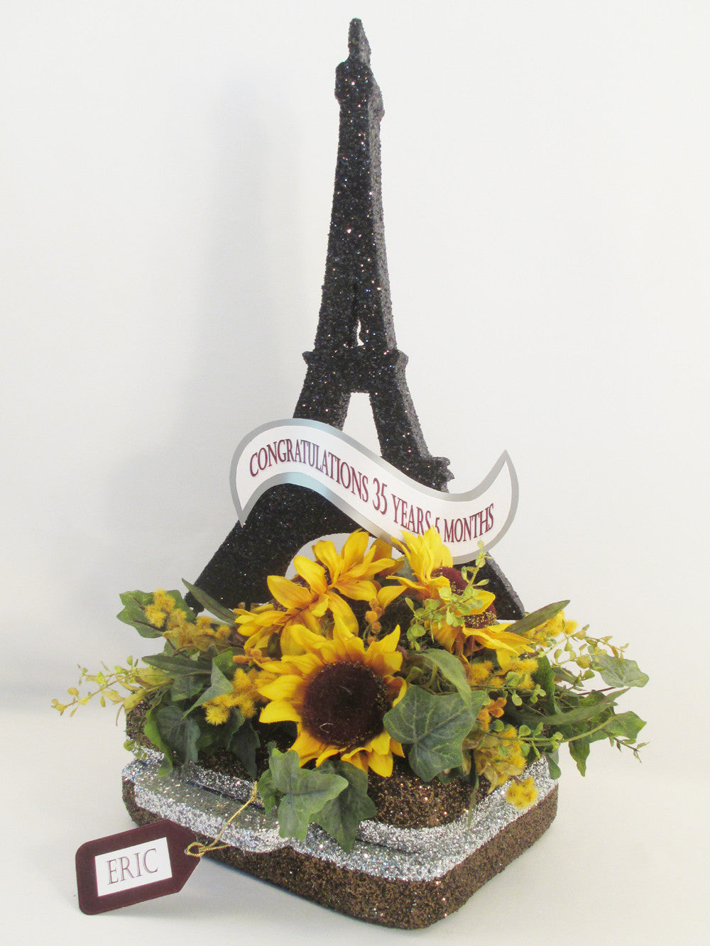 Eiffel Tower on Suitcase Centerpiece
