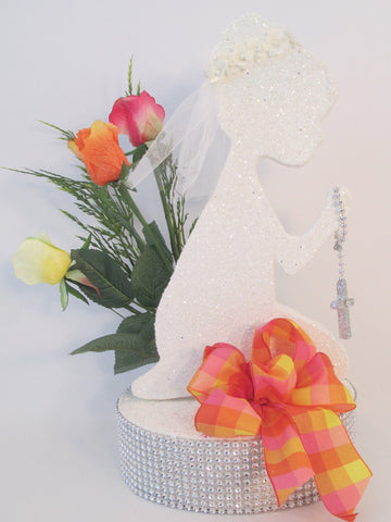 First Communion, Girl Praying Centerpiece