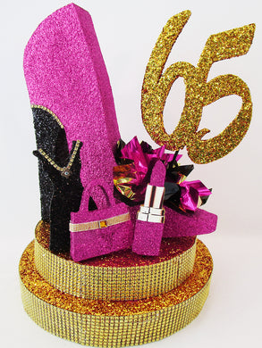 High heel shoe centerpiece - Designs by Ginny