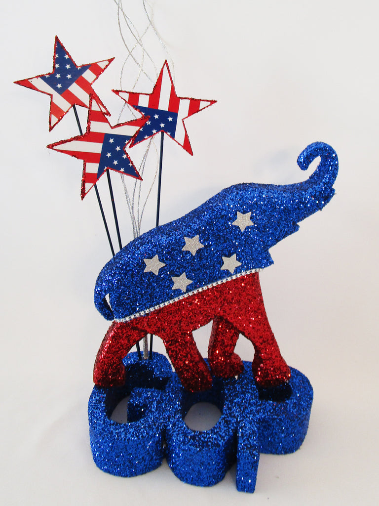 GOP elephant centerpiece - Designs by Ginny