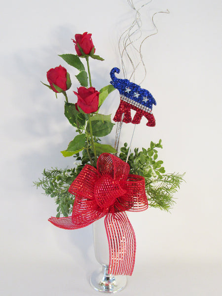 Patriotic GOP centerpiece - Designs by Ginny