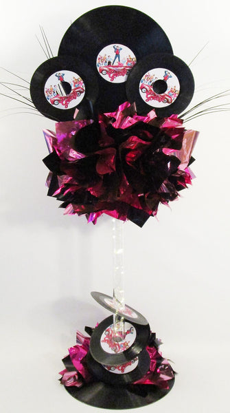 Grease themed centerpiece
