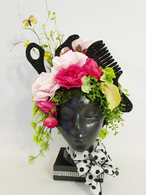 Scissors, Comb, Face Floral Centerpiece - Designs by Ginny