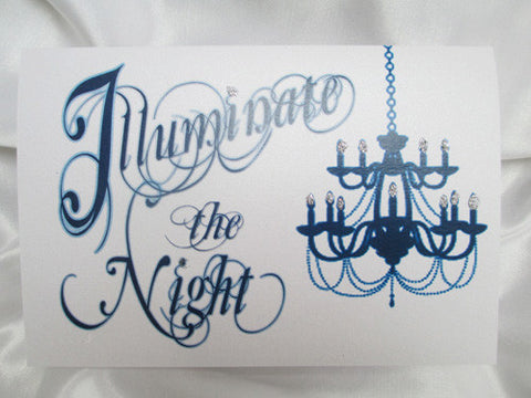 Chandelier Prom Invite - fold-over - Designs by Ginny