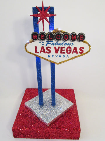 Las Vegas Sign Centerpiece - Designs by Ginny