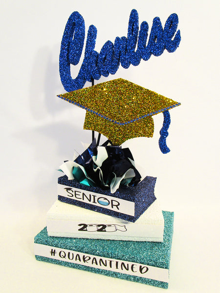 Quarantined 2020 graduation centerpiece - designs by Ginny