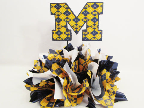 University of Michigan M Logo Table Centerpiece
