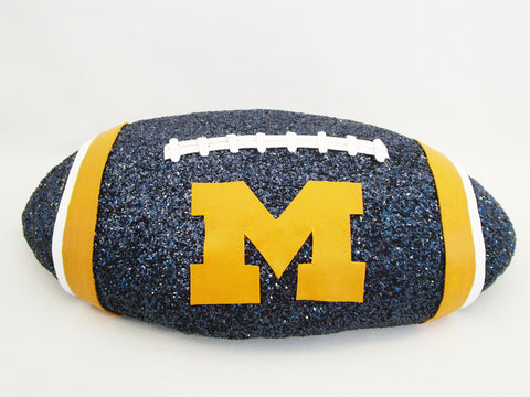 Michigan State faux football centerpiece base - Designs by Ginny