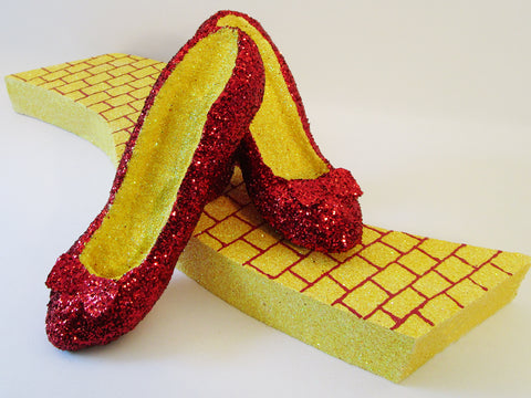 Faux Dorothy shoes,Yellow brick road - Designs by Ginny