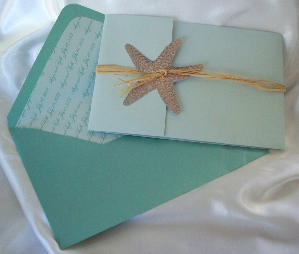 Star Fish Themed Wedding Invite Designs By Ginny
