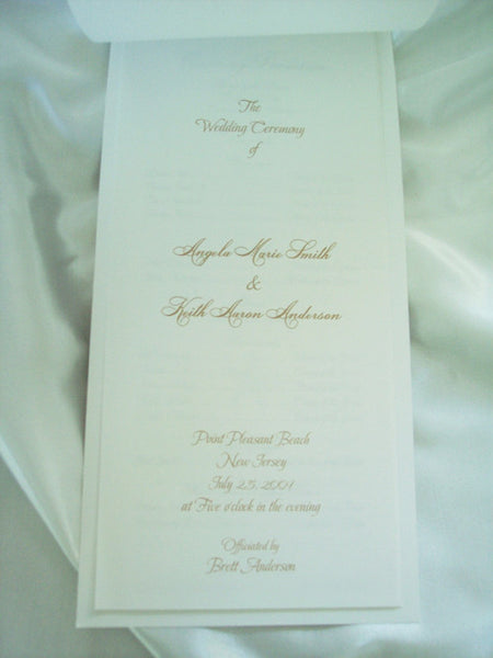Starfish Wedding program